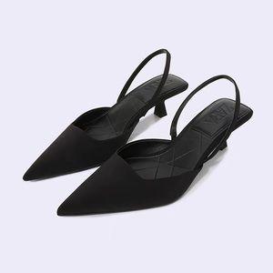 Zara Slingback Kitten Heel Shoes SIZE 37